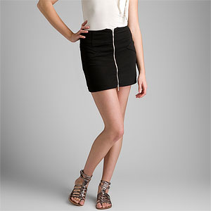 BCBGeneration Black Zipper Front Skirt