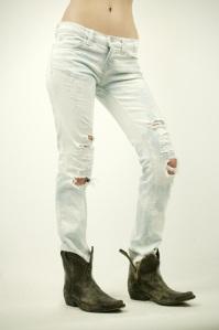 """J Brand 12"""" Pencil Leg Acid Wash Ripped Jean"""